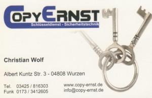 Visitenkarte Wolf